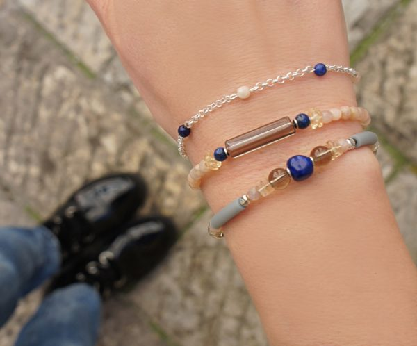 Женский браслет из Дымчатого кварца