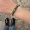 женский браслет из азурита