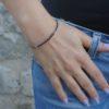 Тонкий браслет из Граната
